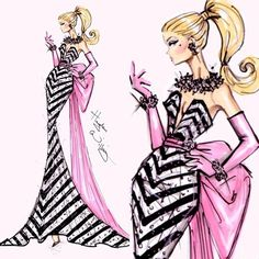 #Hayden Williams Fashion Illustrations    #Happy Birthday Barbie! By Hayden Williams