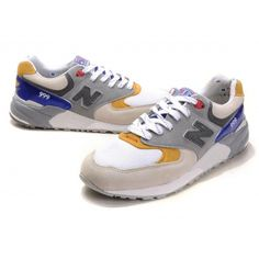 Made in USA New Balance CMM999L Kennedy President classic White Grey Yellow Blue men shoes, New Balance shoes