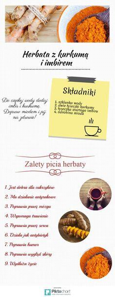 Herbata z imbiru i kurkumy smakuje wyśmienicie, ma też wiele właściwości zdrowotnych. Warto włączyć ten napój do codziennej diety, aby wspomóc m.in. pracę serca, układu trawiennego czy cieszyć się piękną skórą. Przekonaj się, na co jeszcze wpływa ten magiczny wywar.