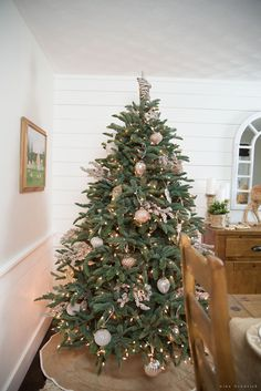 Dining Room Christmas Tree with Balsam Hill