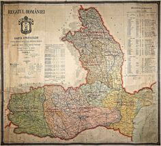 Kingdom of Romania before WWI Old Maps, World War I, Vintage World Maps, Homeschool, Maps, Cartography, Flags, Cards, Geography
