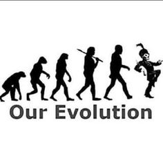 I don't believe in evolution because I'm a Christian but this is still funny