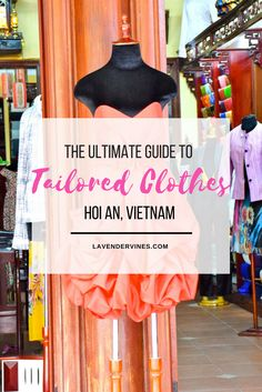 Buying tailor-made clothing in Hoi An is one of the most popular things to do in Vietnam. The Hoi An tailors are well-known around the world! Visit Vietnam, Vietnam Travel, Asia Travel, Japan Travel, Bangkok Outfit, Hoi An Tailor, Danang Vietnam, Travel Dress, Trip Planning