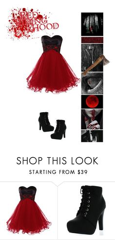"""""""Red Riding Hood-Prom"""" by pastelgothprincess27 ❤ liked on Polyvore featuring Top Moda"""