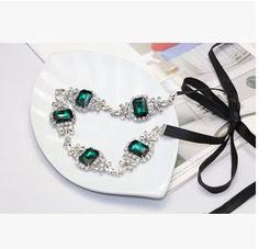 Shining vintage ladies hair band luxury emerald women headbands ...