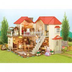 calico critters luxury townhome ens bonus meuble castello jeux et jouets - Jeu De Construction De Maison Gratuit
