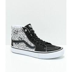 9d59f7ae9933 Vans x Sketchy Tank Sk8-Hi Pro Reflective Black   White Skate Shoes