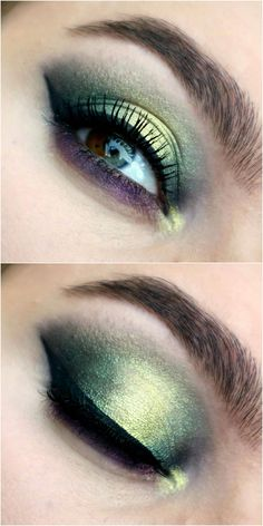 Maleficent green smoked halo eye makeup look with purple lash line using the ColourPop x Disney Villains Misunderstood palette. Click through to see more! You are in the right place about makeup ojos H Halloween Eye Makeup, Halloween Eyes, Maquillage Halloween, Halo Eye Makeup, Blue Eye Makeup, Smokey Eye Makeup, Colour Pop, Make Up Looks, Eyemakeup For Green Eyes