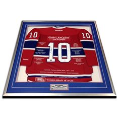 Framed Career Jersey Guy Lafleur Montreal Canadiens Certificate of Authenticity #AutographAuthentic
