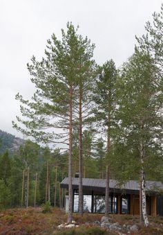 Gapahuk fra Rindalshytter: Ferdighytte tegnet av Snøhetta
