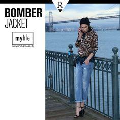 ¿Ya tienes tu #BomberJacket? Combina esta prenda en animal print sobre una camisa de cuadros y descubrirás una combinación que funciona. ¿Te atreves? Conoce más sobre esta prenda en www.mylife.com.pe #MyLife #MeFascinaRipley