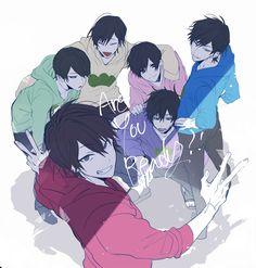 [おそ松さん] - ❤ Random :D Anime Love, Hot Anime Boy, Cute Anime Guys, Anime Chibi, Anime Kawaii, Anime Art, Boys Lindos, Anime Siblings, Animé Fan Art