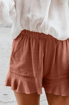 Cute Casual Outfits, Short Outfits, Shorts Outfits Women, Casual Shorts, Cute Womens Clothes, Summer Clothes For Women, Spring Clothes, Nice Clothes, Style Clothes