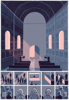 Jon McNaught shares Pilgrims, his 7-page story from Nobrow's A Graphic Cosmogony, in which all the contributing artists told their version of a creation story.