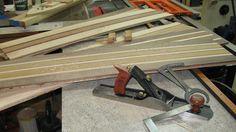 A few longboard blanks ready for shaping.