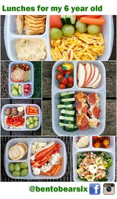 Lunches for a six year old. Great ideas!