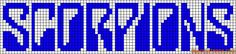 musique - music - scorpions - point de croix - cross stitch - Blog : http://broderiemimie44.canalblog.com/