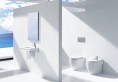 Roca Meridian bathroom, with a minimal and modern design perfect for any home #home #interior #bathroom #design