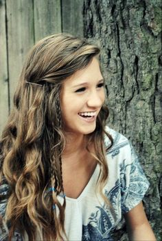 Cute Girls Hairstyles: Long Hair with Side Braids