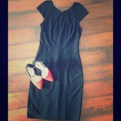 Little black dress Gorgeous little black dress.Cap sleeve.Zipper on back.Full length attached under lining Cache Dresses