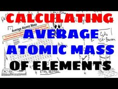 how to calculate an elements average atomic mass chemistry labsscience chemistryphysical scienceatomsperiodic tablecalculatorphysicsteacher