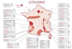 La carte des principaux cépages francais - l'agenda du vin