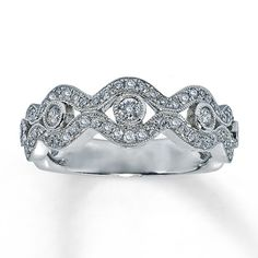 14K White Gold ½ Carat t.w. Diamond Ring