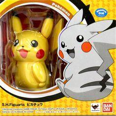 SH Figuarts Pokemon Pikachu Painted Figure Bandai Nintendo for sale online Nintendo For Sale, Pikachu, Pokemon, Action Figures, Creatures, Toys, Anime, Monsters, Pocket