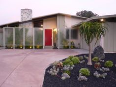 Mid-century modern ranch - Before & After