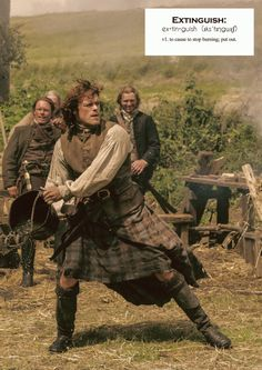 Outlander definitions.- Extinguish. (x)