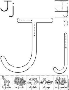 letra j fichas del abecedario y el alfabeto para descargar gratis para imprimir de niños