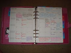 My home binder a5 pink finsbury filofax (think flylady) tabs 1-2 (read 03/28/13 - link BROKE - ThT)