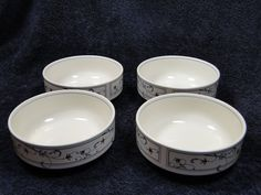 Mikasa Intaglio Annette CAC29 Cereal Bowls FOUR - NEW IN BOX - GREAT DEAL! in Pottery & Glass, Pottery & China, China & Dinnerware | eBay