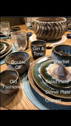 Mccarty Pottery, Charger Plates, Gin And Tonic, Salad Plates, Dinner Plates, Serving Bowls, Catering, Barware, My Favorite Things