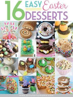 16 Easy Easter Desserts at artsyfartsymama.com