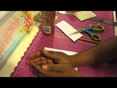 Teach me Tuesday: How to cover chipboard with designer paper!!