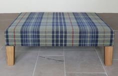 Beautiful Ottoman from Anta. We love the fabric and the oak legs.