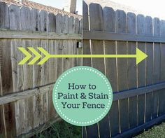 Revitalize Your Wooden Fence With This Technique >> http://www.hgtvgardens.com/fences/fence-revival-a-guide-to-painting-and-staining?soc=pinterest