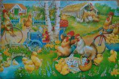 """Nyt on mämmit syöty! Eli n. 4 litraa jäi tiistaille ruokasaliin tarjottavaksi! Siispä 130 litraa meni hyvin, ensivuonna kannattaa tehdä sama määrä! Saimme kovasti kiitoksia asiakkailta täyden kympin palautteena. Ettei vaan olisi """"kymppimämmiä""""! Meillähän on yhtä iloinen olo kuin tällä kana perheellä! Olemme onnistuneet!"""