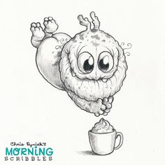 Pumpkin Spice Latte Season! ☕️ #morningscribbles #psl