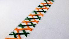 Embroidery Stitch - Feather Stitch with lazy daisy stitch. Hand Embroidery Patterns, Embroidery Stitches, Embroidery Designs, Knitting Patterns, Chevron, Scrap, Lazy Daisy Stitch, Feather Stitch, Herringbone Stitch