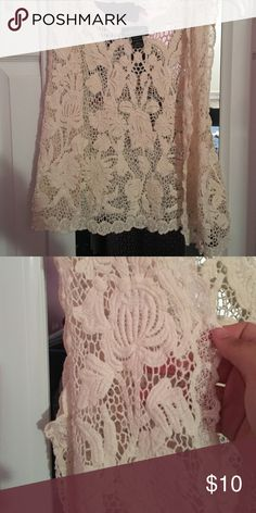 Boho crochet vest Size medium boho crochet vest. Worn once and in pristine condition. This top is in right now!! Wear with a bralette or a tank top under neath to give it the perfect festival look this summer. Very light too. Accepting offers. Wet Seal Tops
