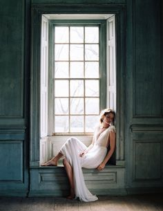 Liv Hart Collection // Natural light + a large window, an ethereal wedding dress.