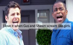 Psych - Shawn and Gus Best Tv Shows, Best Shows Ever, Favorite Tv Shows, Movies And Tv Shows, Favorite Things, Favorite Quotes, Shawn And Gus, Shawn Spencer, Psych Tv
