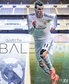"""""""Check out this excellent Gareth Bale image by one of our Graphic Designers, Jaime Negrón. Football Ads, First Football, Football Love, Best Football Team, Gareth Bale, Real Madrid 11, Bale 11, Bale Real, Messi And Ronaldo"""