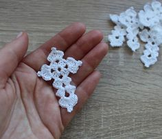 Best 12 Crochet white crosses appliques, baptism favors, christening, set of 7 pcs, Ready to ship Crochet Bookmark Pattern, Crochet Bookmarks, Crochet Cross, Crochet Flower Patterns, Crochet Diagram, Thread Crochet, Crochet Motif, Crochet Flowers, Crochet Stitches