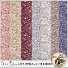 Love Struck glitter papers