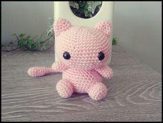 Cute Mew amigurumi BIG EYED VERSION by PhandasCreations on Etsy