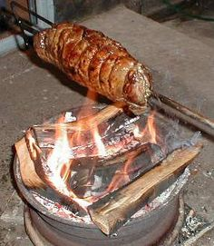 Idar-Oberstein, Germany ~ I think I'll try Spießbraten! yes that is spiessbraten. Sweet Home, Pork, Germany, Dishes, Meat, Recipes, Places, Essen, Foods
