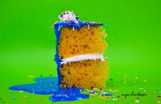 #fakefood #foodphotography #birthdaycake #colour #bright #vibrant #sprinkles #spongecake #focalpoint #experimental #creative